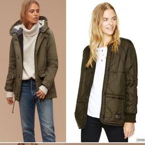 TNA Griffith Wool Lined Parka Jacket Multi layer